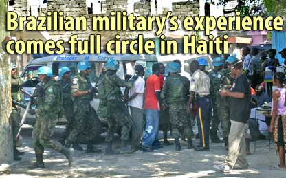Brazilian military's experience comes full circle in Haiti - Februrary