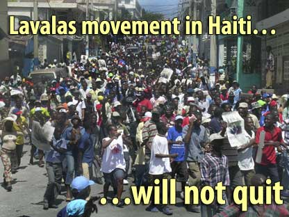 Lavalas movement in Haiti will not quit - March 9, 2008