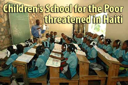 Children's school for the Poor threatened in Haiti - Aug 8, 2008
